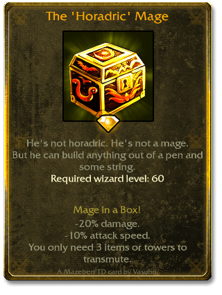 The 'horadric' Mage