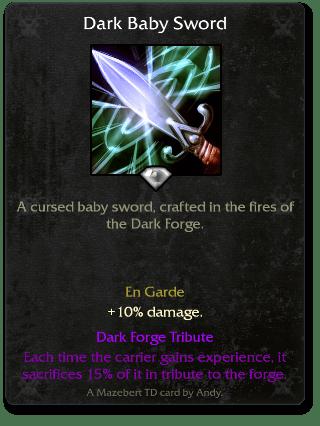 Dark Baby Sword