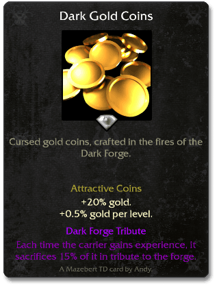 Dark gold coins