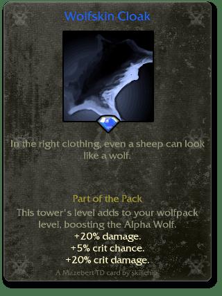 Wolfskin Cloak