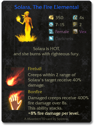 Solara, The Fire Elemental