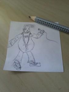 Concept Art for the Elvis Imitator.
