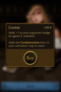 Buying the cookie adds +1 to your supporter badge...