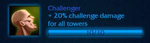More challenge damage.